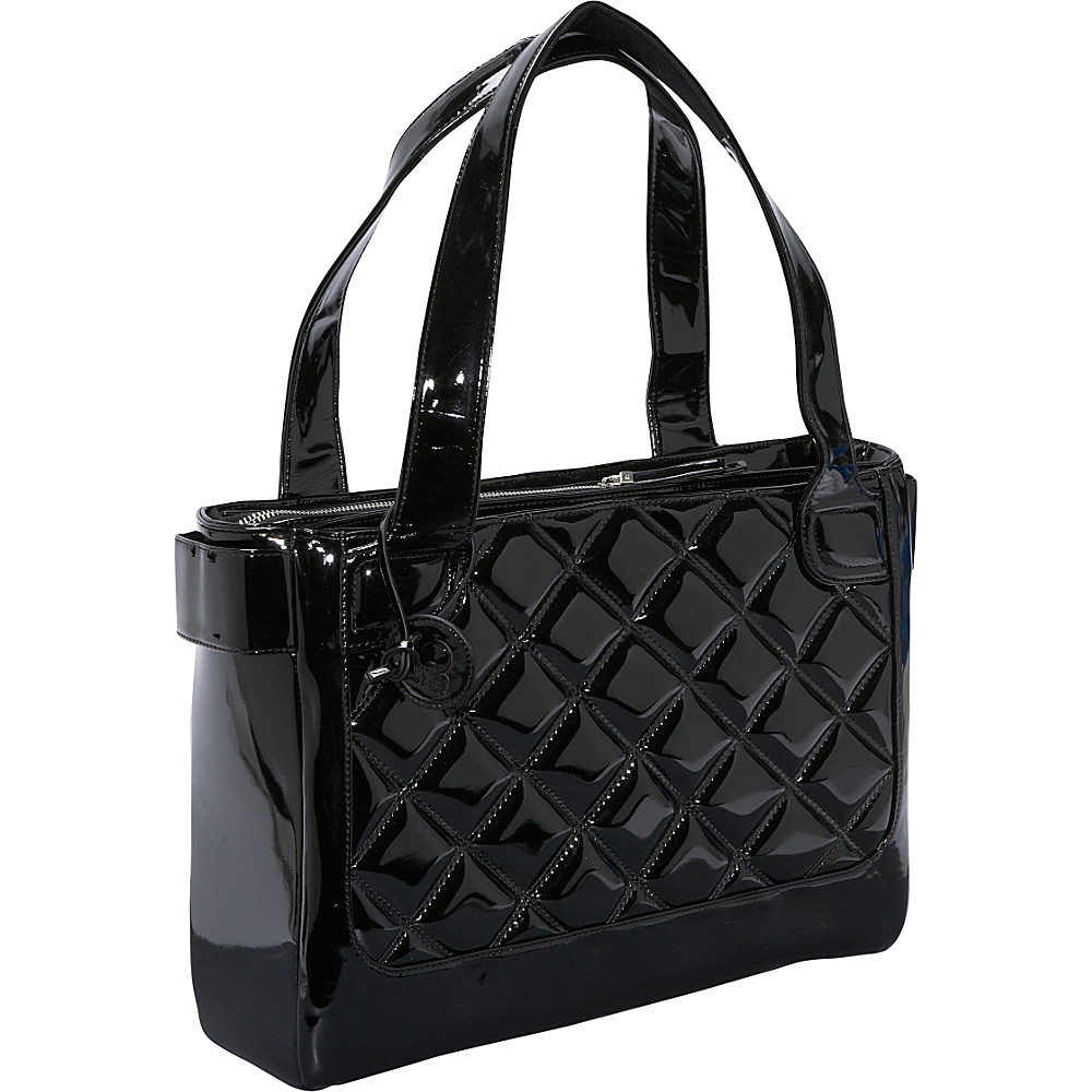 Women In Business Vanity Laptop Tote - Black Patent