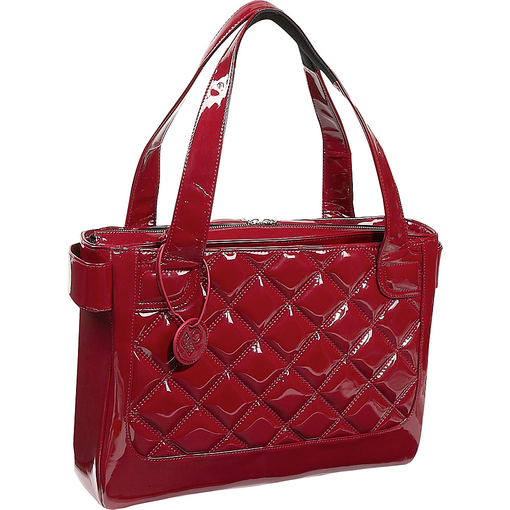 Women In Business Vanity Laptop Tote - Scarlet Patent - Work Bags & Briefcases, Women's Business Bags