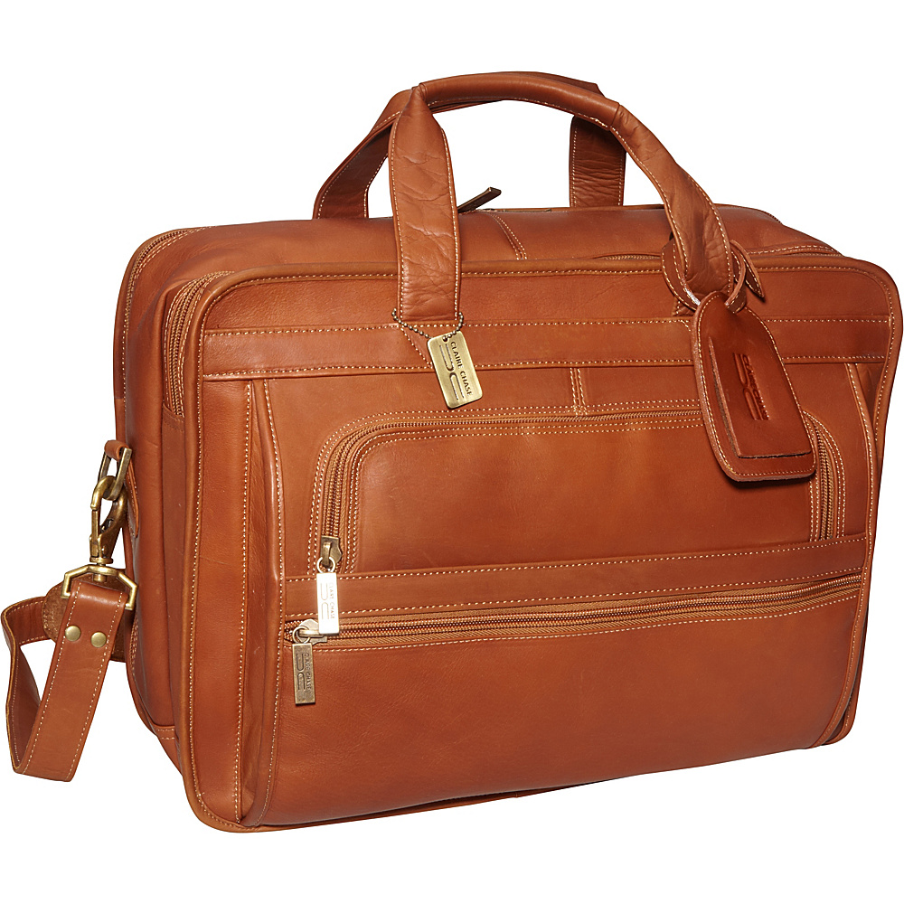 ClaireChase Guardian Laptop Brief - Saddle - Work Bags & Briefcases, Non-Wheeled Business Cases