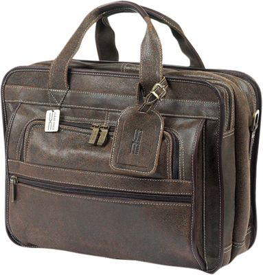 ClaireChase Guardian Laptop Brief Distressed Brown - ClaireChase Non-Wheeled Business Cases