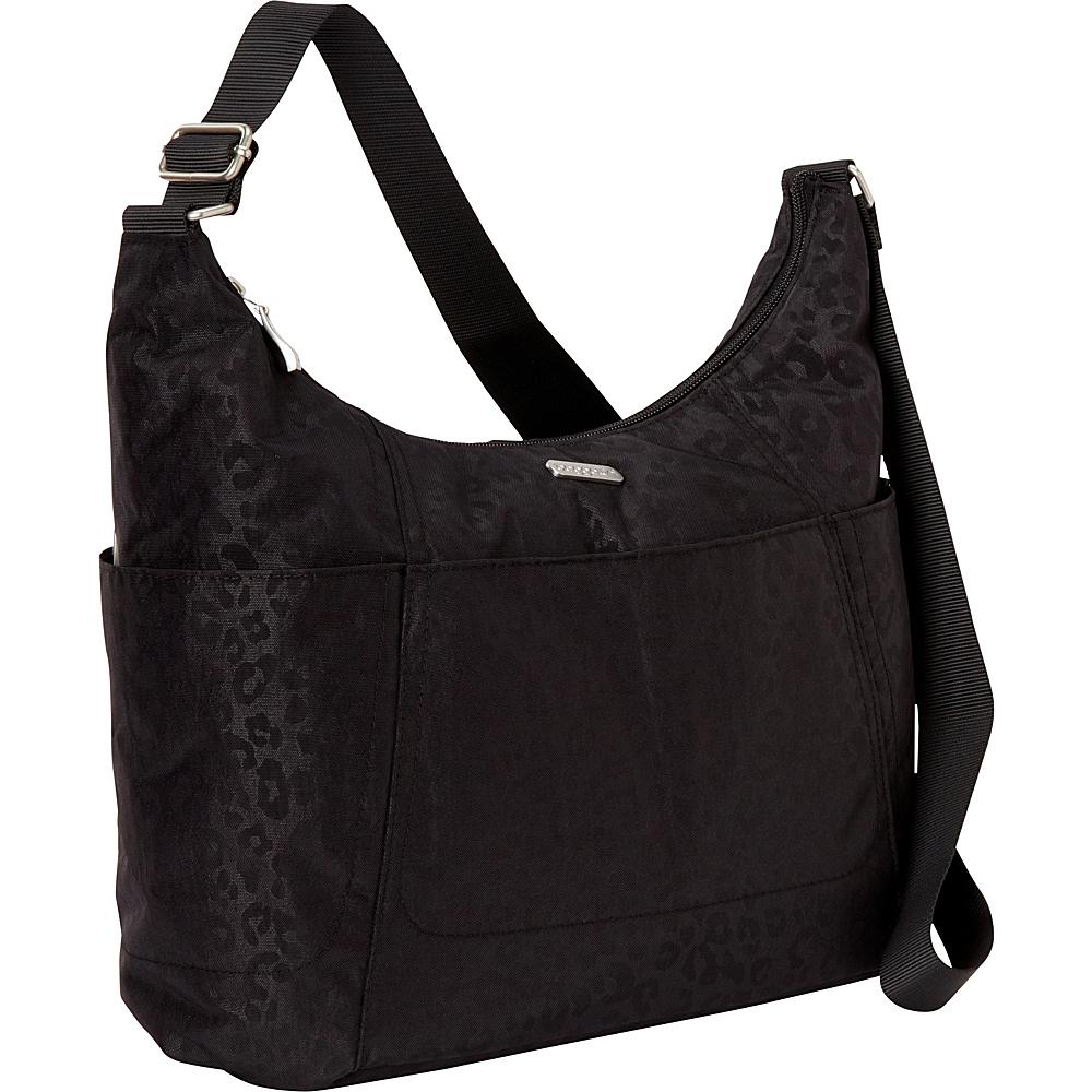 baggallini Hobo Tote Black Cheetah Emboss - baggallini Fabric Handbags