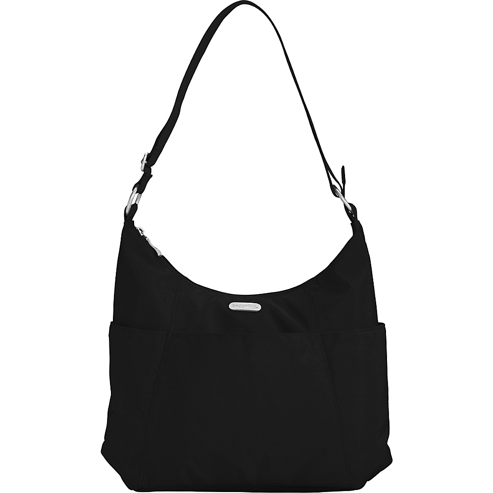 baggallini Hobo Tote Black/Sand - baggallini Fabric Handbags