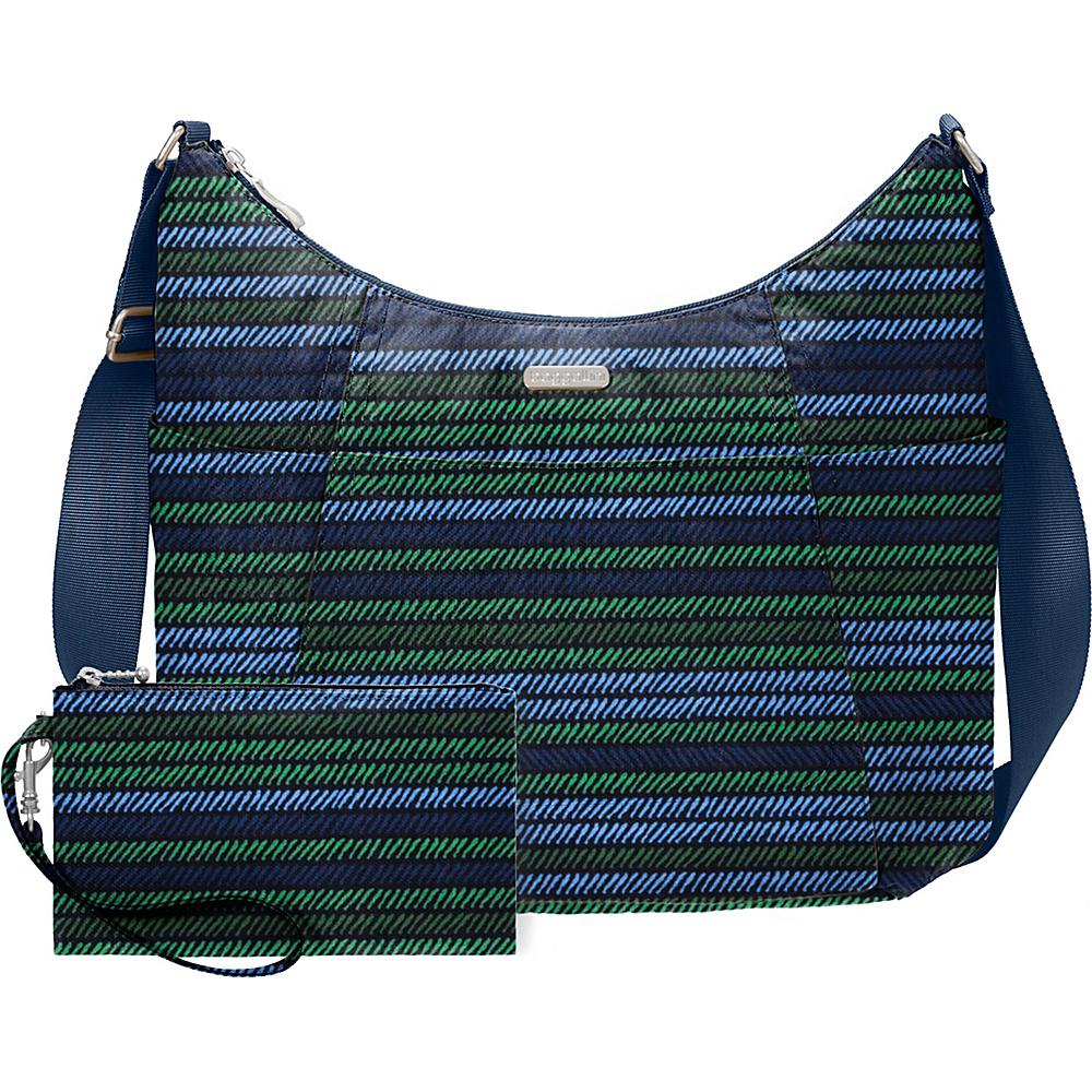 baggallini Hobo Tote Moss Stripe - baggallini Fabric Handbags - Handbags, Fabric Handbags