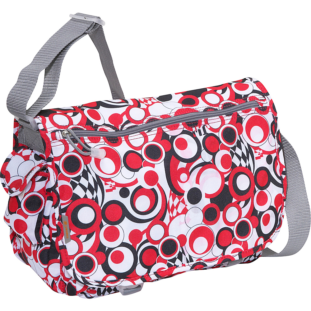 J World Terry Messenger - Chess Red - Work Bags & Briefcases, Messenger Bags
