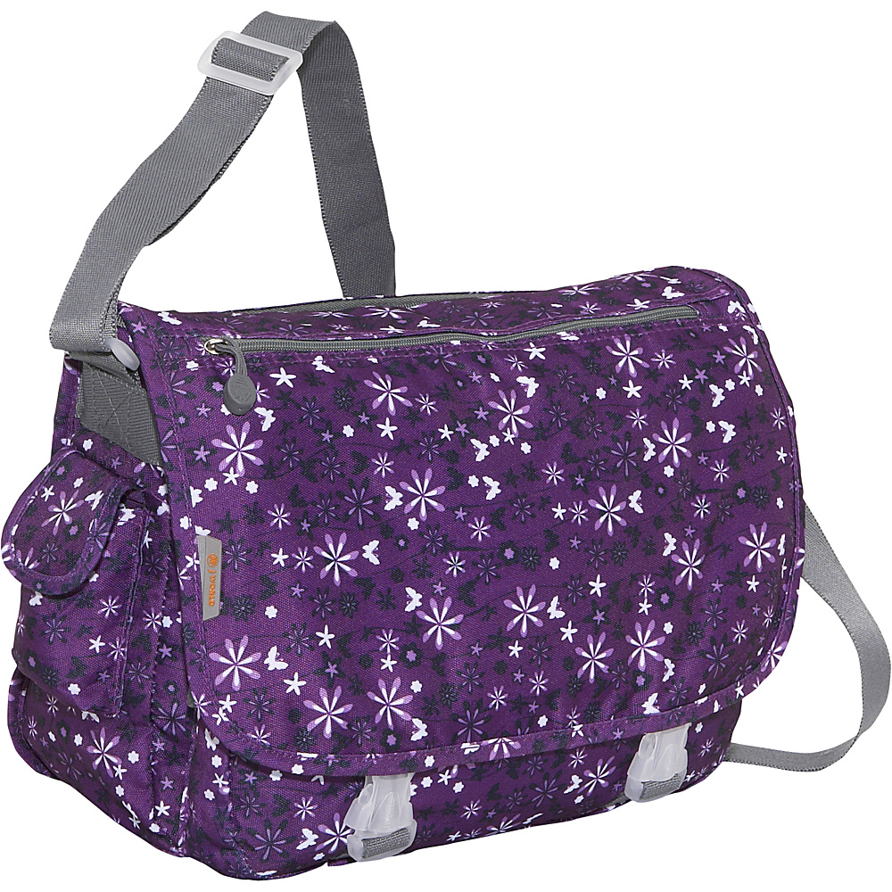 J World Terry Messenger - Garden Purple - Work Bags & Briefcases, Messenger Bags