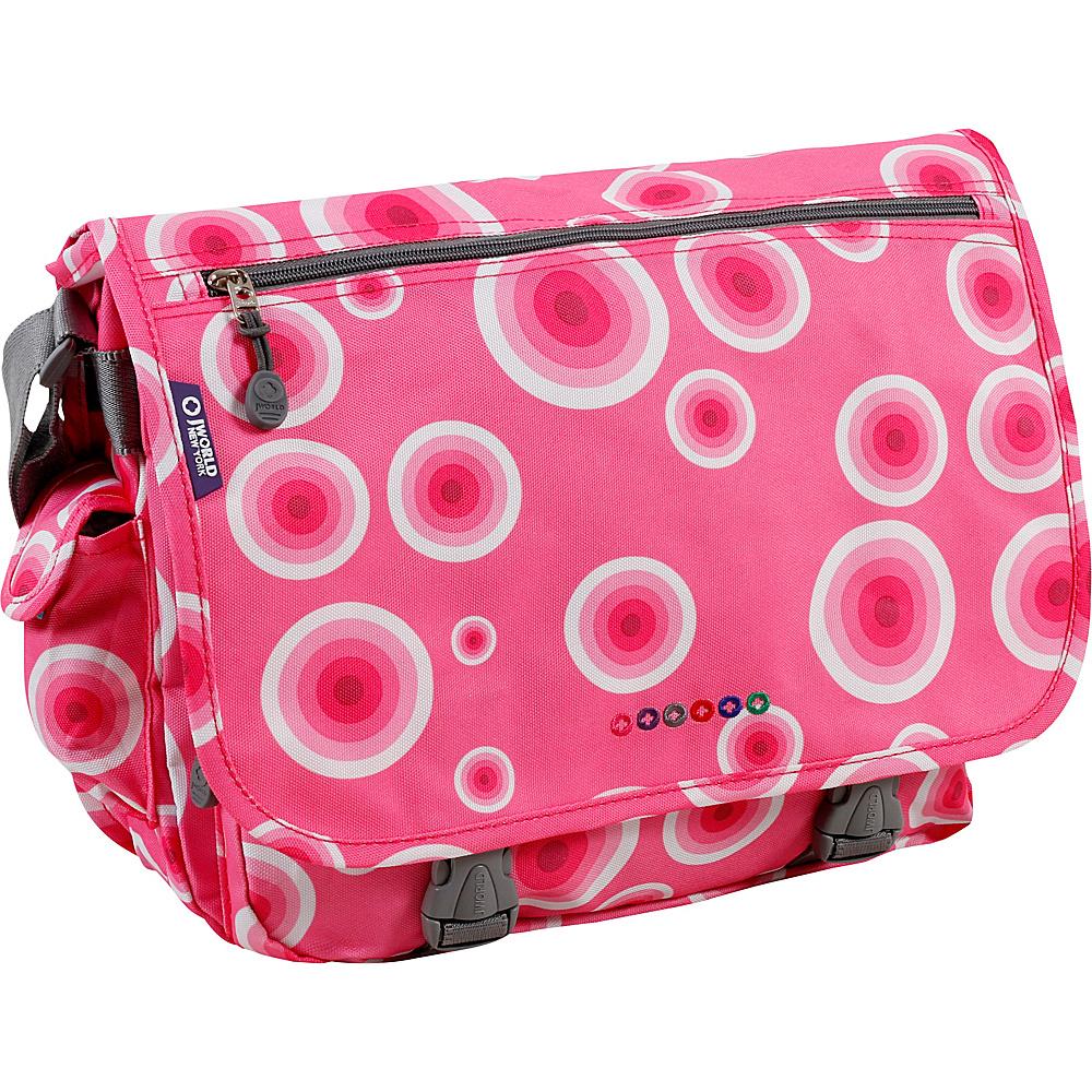 J World Terry Messenger - Pink Target - Work Bags & Briefcases, Messenger Bags