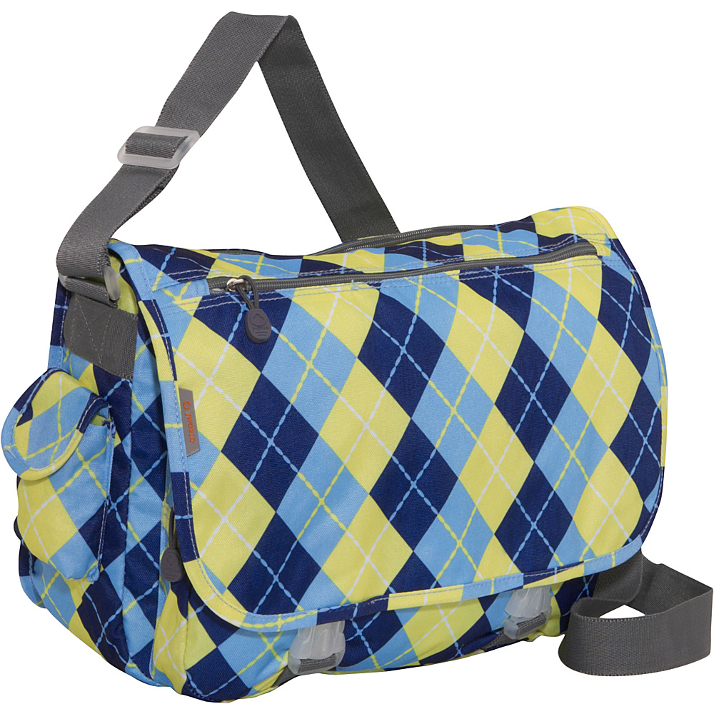 J World Terry Messenger - Argyle-Navy - Work Bags & Briefcases, Messenger Bags