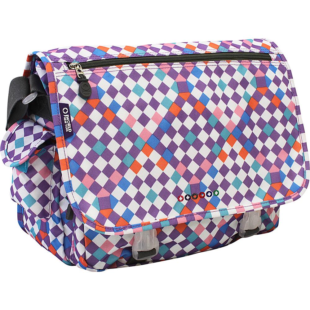 J World New York Terry Messenger CHECKMATE - J World New York Messenger Bags - Work Bags & Briefcases, Messenger Bags