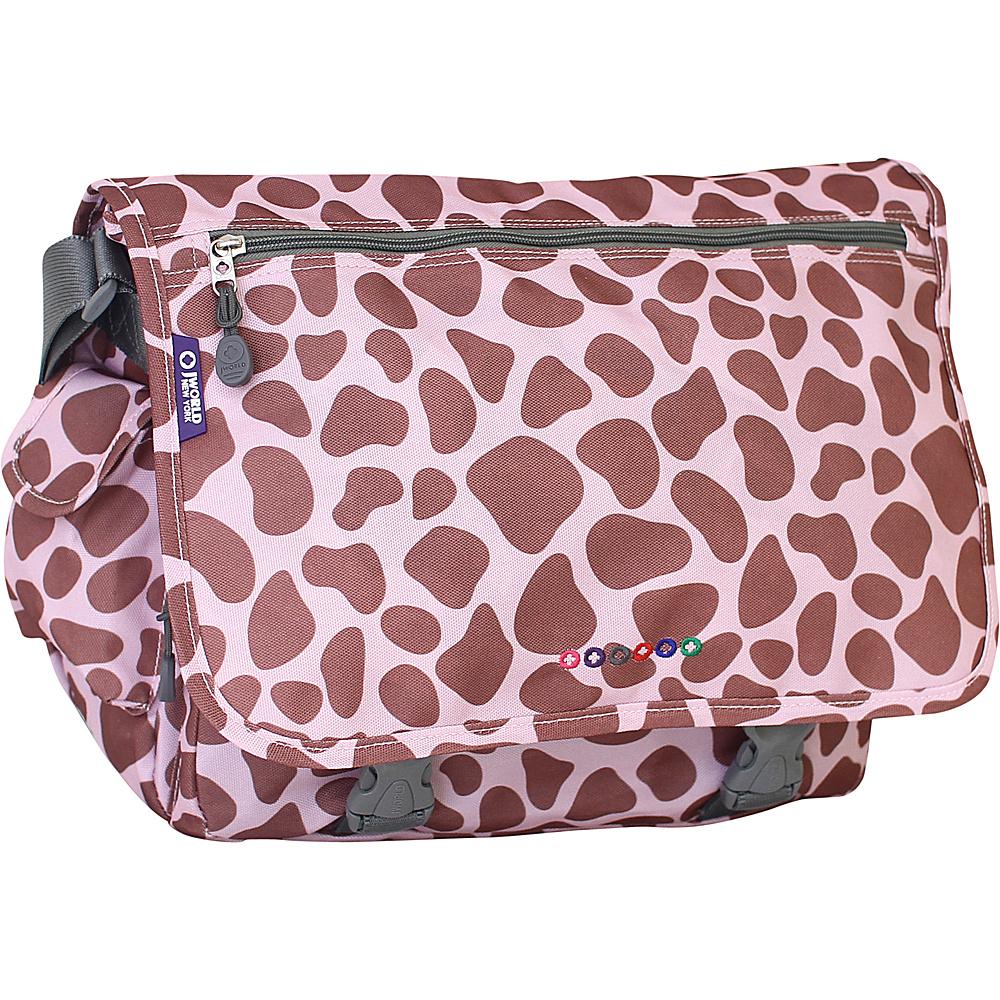 J World New York Terry Messenger PINK ZULU - J World New York Messenger Bags - Work Bags & Briefcases, Messenger Bags