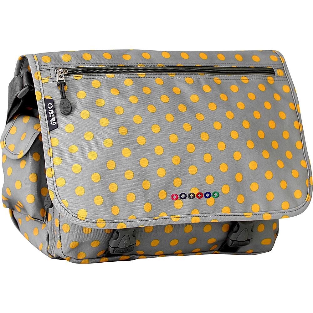 J World New York Terry Messenger CANDY BUTTONS - J World New York Messenger Bags - Work Bags & Briefcases, Messenger Bags