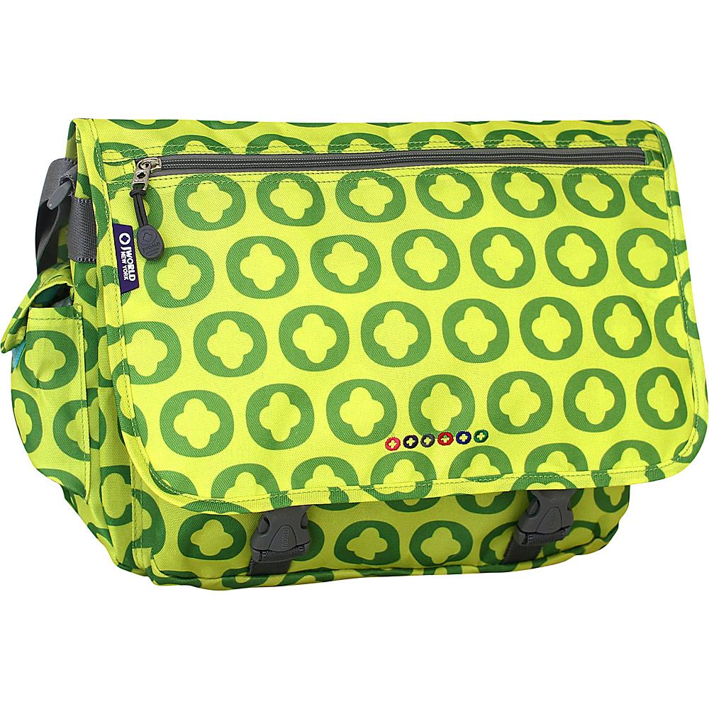 J World New York Terry Messenger LIME LOGO - J World New York Messenger Bags - Work Bags & Briefcases, Messenger Bags