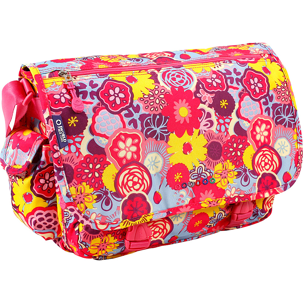 J World New York Terry Messenger POPPY PANSY - J World New York Messenger Bags - Work Bags & Briefcases, Messenger Bags