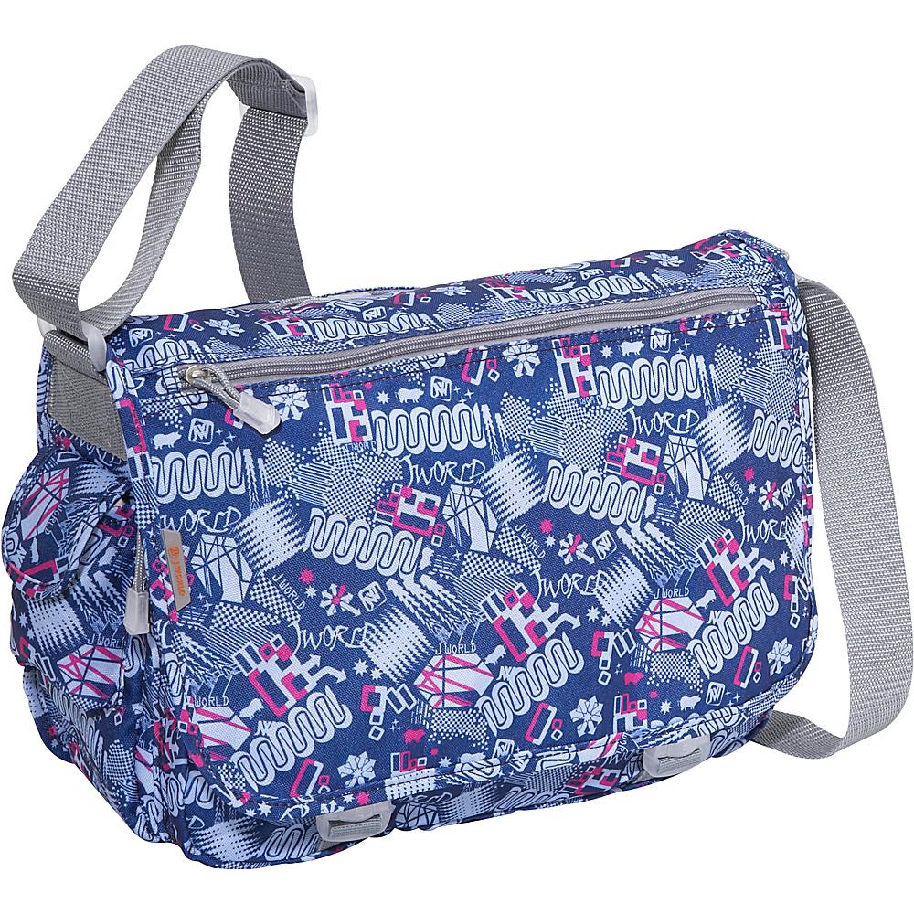 J World Terry Messenger - Blinker Blue - Work Bags & Briefcases, Messenger Bags