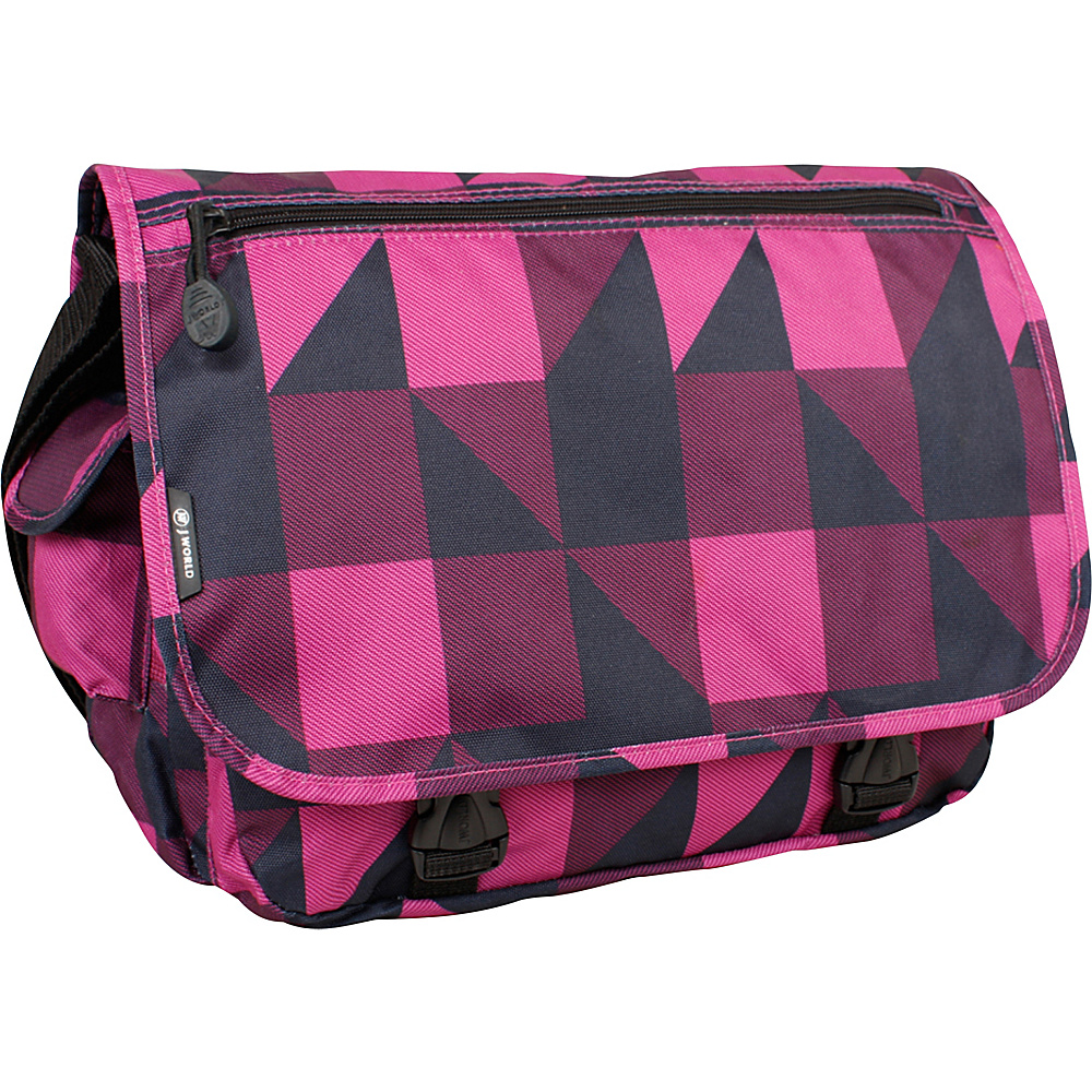 J World Terry Messenger - Block Pink - Work Bags & Briefcases, Messenger Bags