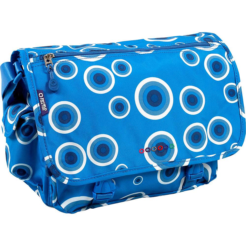 J World Terry Messenger - Blue Target - Work Bags & Briefcases, Messenger Bags