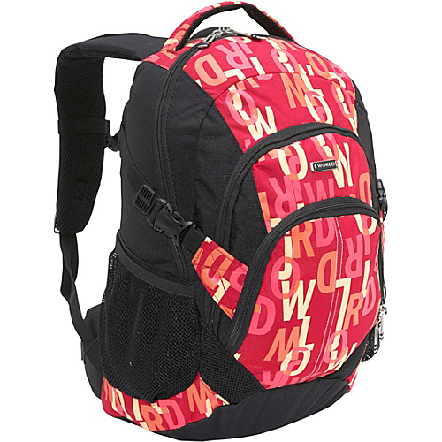 J World Jakobs Laptop Backpack - Signature Red (10149840 JWS-62 Signature RED) photo