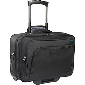 Executive Pro Deluxe Rolling Computer Brief Black