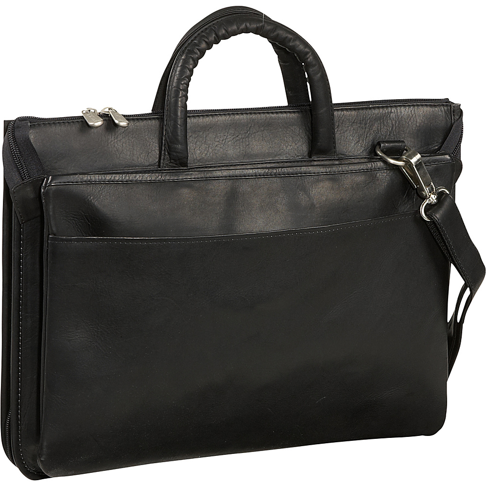 Piel Expandable Brief - Black - Work Bags & Briefcases, Non-Wheeled Business Cases