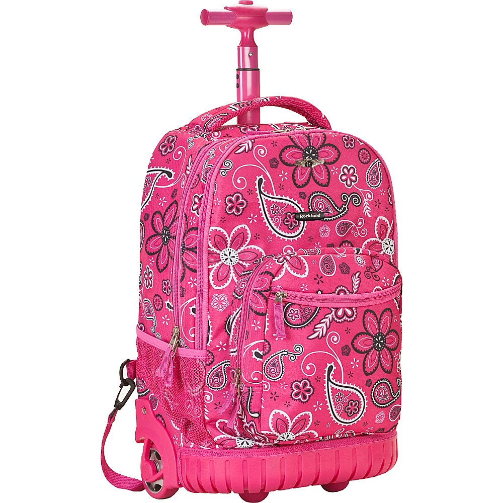 Rockland Luggage Sedan 19 Rolling Backpack - Pink - Backpacks, Rolling Backpacks
