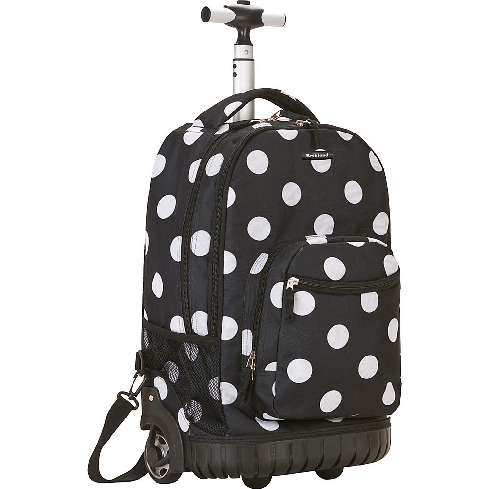 Rockland Luggage Sedan 19 Rolling Backpack - Black Dot - Backpacks, Rolling Backpacks