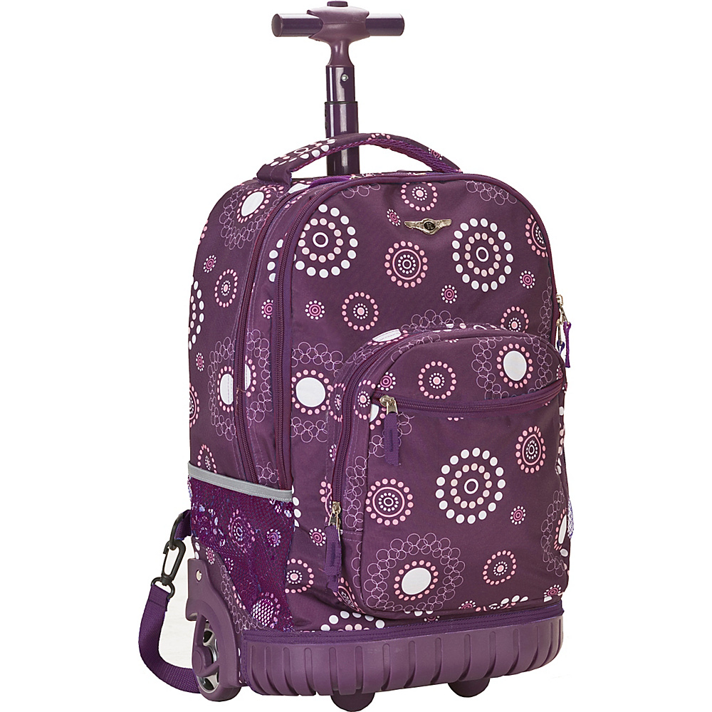 Rockland Luggage Sedan 19 Rolling Backpack - Purple - Backpacks, Rolling Backpacks