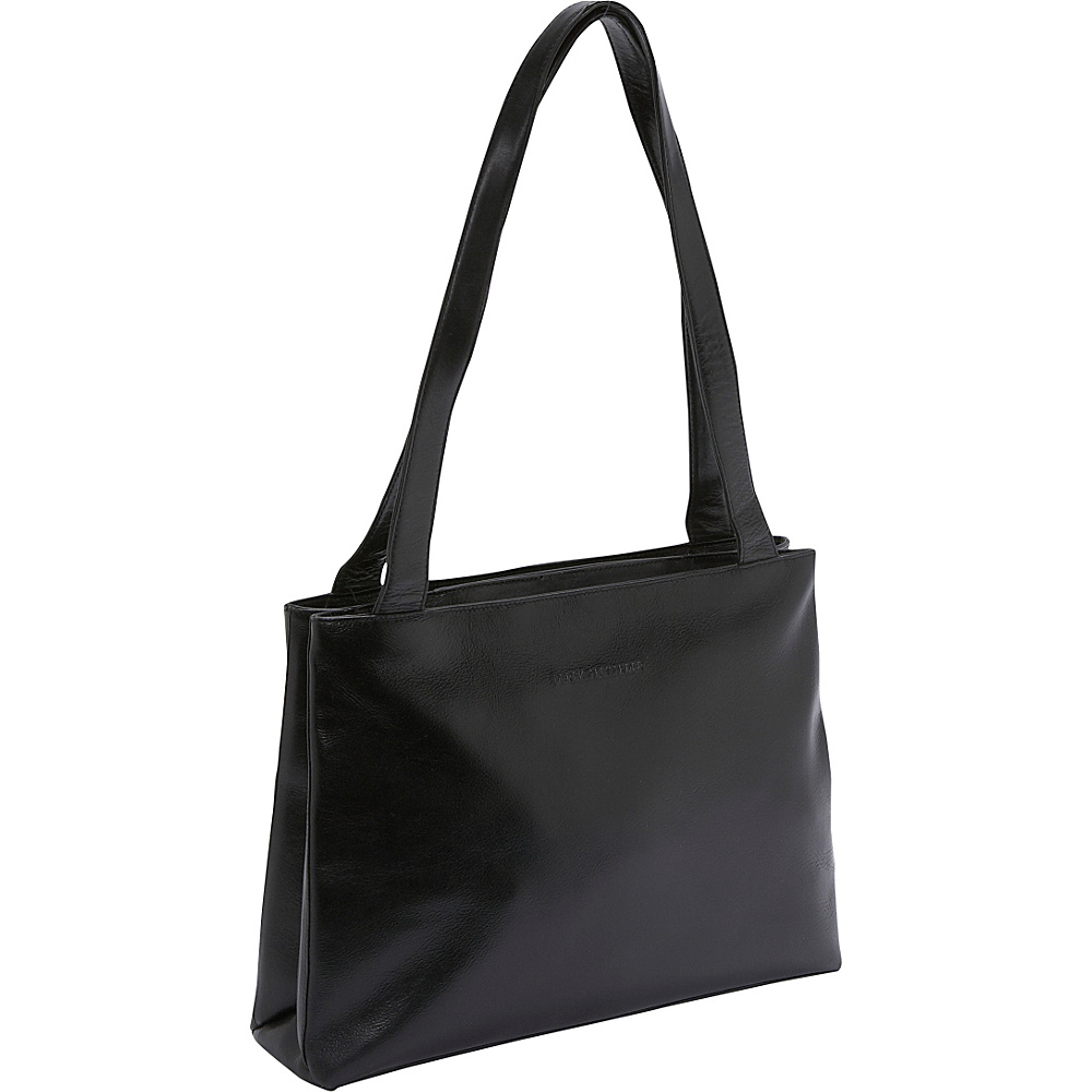 Derek Alexander Medium Shopper Top Zip - Black - Handbags, Leather Handbags