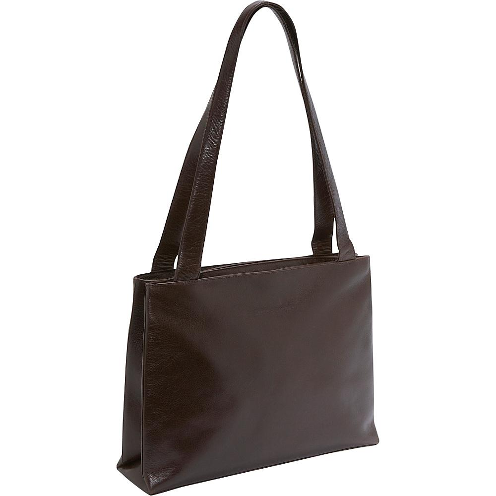 Derek Alexander Medium Shopper Top Zip - Coffee - Handbags, Leather Handbags