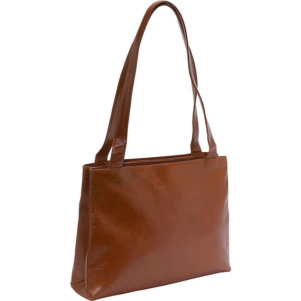 Derek Alexander Medium Shopper Top Zip - Tan - Handbags, Leather Handbags