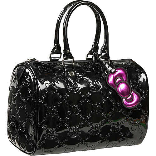 Loungefly Hello Kitty Black Embossed City Bag Black - Loungefly Junior Handbags
