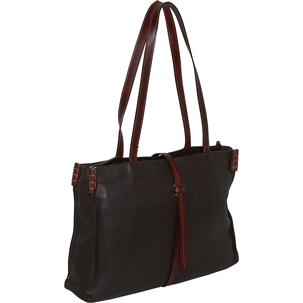 Derek Alexander EW Top Zip Tote Brown/Brandy - Derek Alexander Leather Handbags - Handbags, Leather Handbags