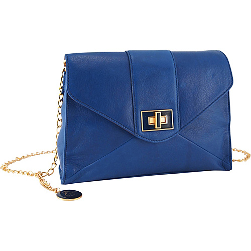 Koret Handbags Turnlock Square Envelope Clutch - Cobalt
