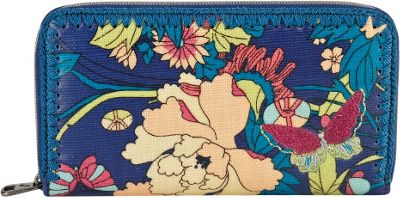 Sakroots Artist Circle Large Wallet Royal Flower Power - Sakroots Women's Wallets