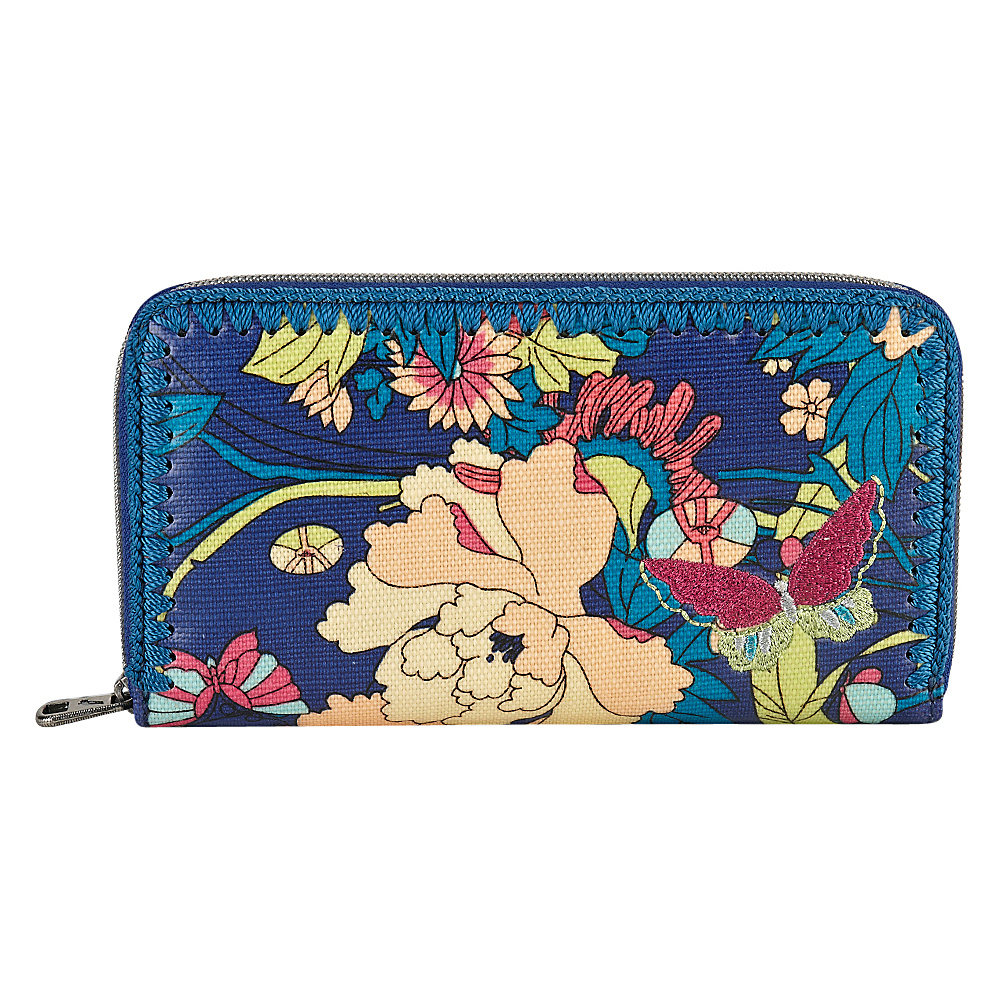 Sakroots Artist Circle Large Wallet Royal Flower Power - Sakroots Womens Wallets - Women's SLG, Women's Wallets