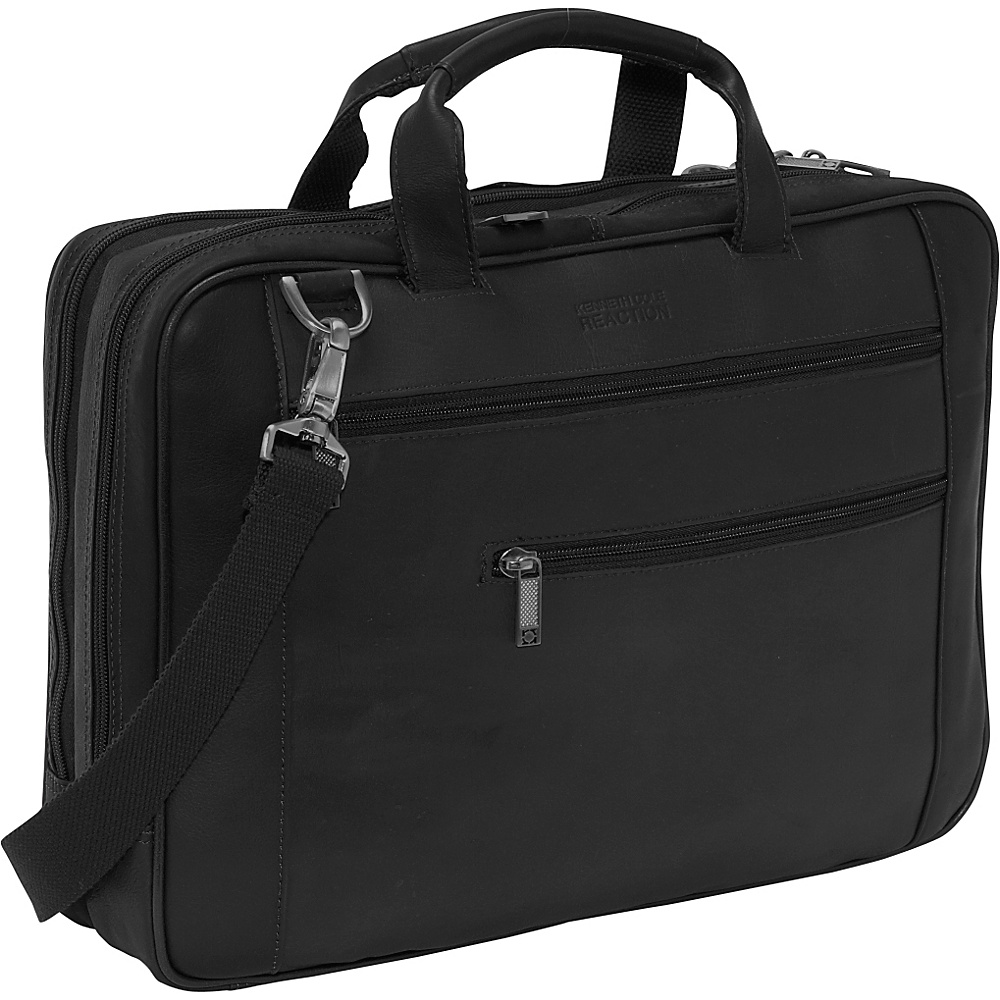 Kenneth Cole Reaction Double Play Leather Laptop - Work Bags & Briefcases, Non-Wheeled Business Cases