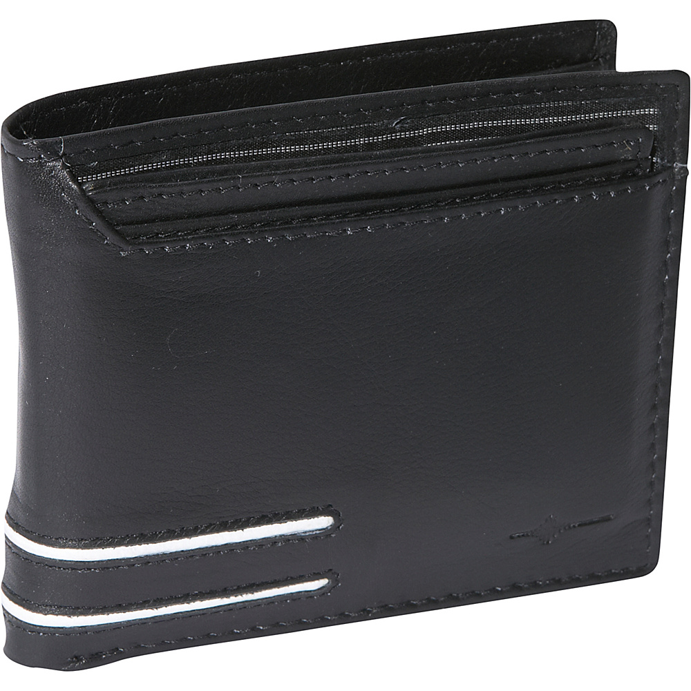 Buxton Luciano Convertible Thinfold - RFID - Black - Work Bags & Briefcases, Men's Wallets