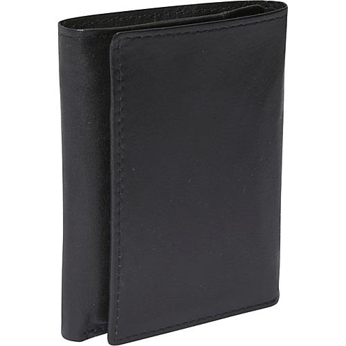 Buxton Houston ID Three-Fold - RFID - Black