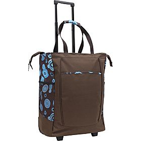 Rolling Shopper Tote Brown
