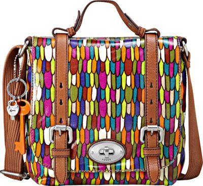 Fossil Key Per Organizer Flap Multi Fossil Fabric Handbags