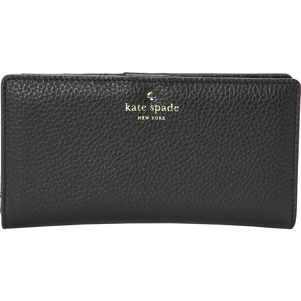 kate spade new york Cobble Hill Stacy Continental Wallet Black - kate spade new york Designer Ladies Wallets