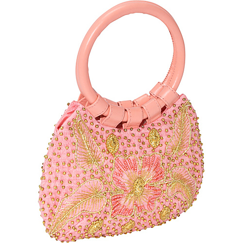 Moyna Handbags Burlap Beaded and Embroidered Bag - Clutch