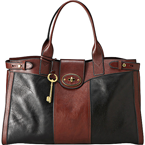Black And Brown Leather Bag | Bags More
