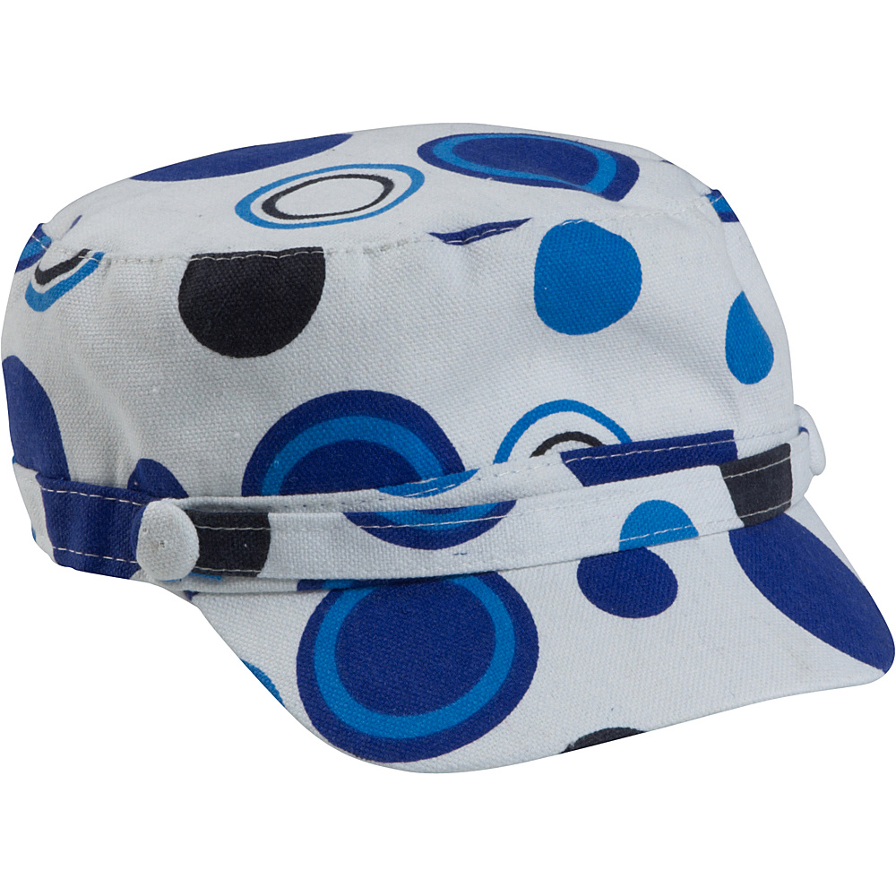 Magid Dot Print Page Cap - Blue/Dot - Fashion Accessories, Hats/Gloves/Scarves