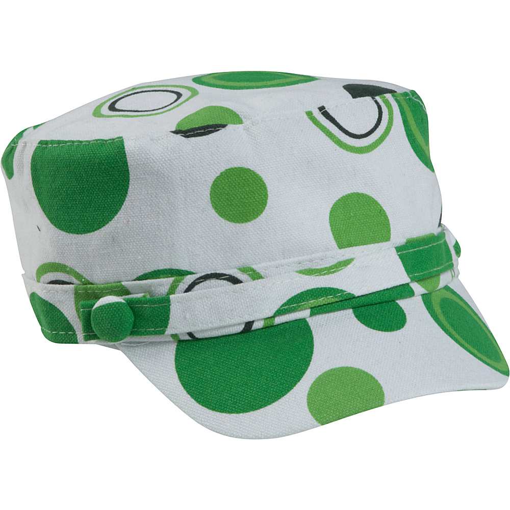 Magid Dot Print Page Cap - Lime/Dot - Fashion Accessories, Hats/Gloves/Scarves
