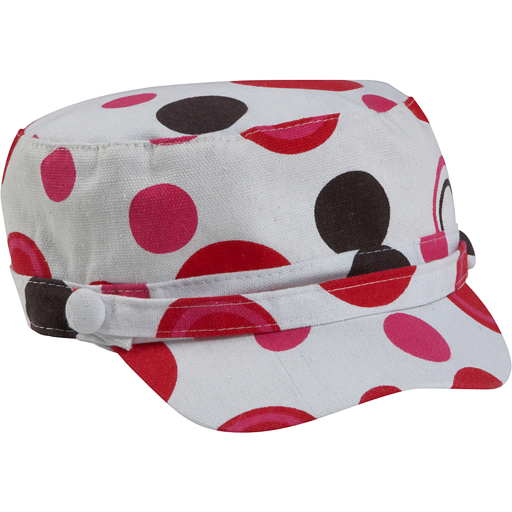 Magid Dot Print Page Cap - Red/Dot - Fashion Accessories, Hats/Gloves/Scarves