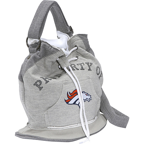 Littlearth NFL Hoodie Duffel Grey/Denver Broncos Denver Broncos - Littlearth Fabric Handbags