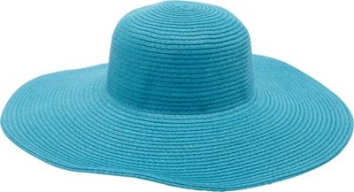 Magid Straw Floppy Sun Hat One Size - Turquoise - Magid Hats/Gloves/Scarves