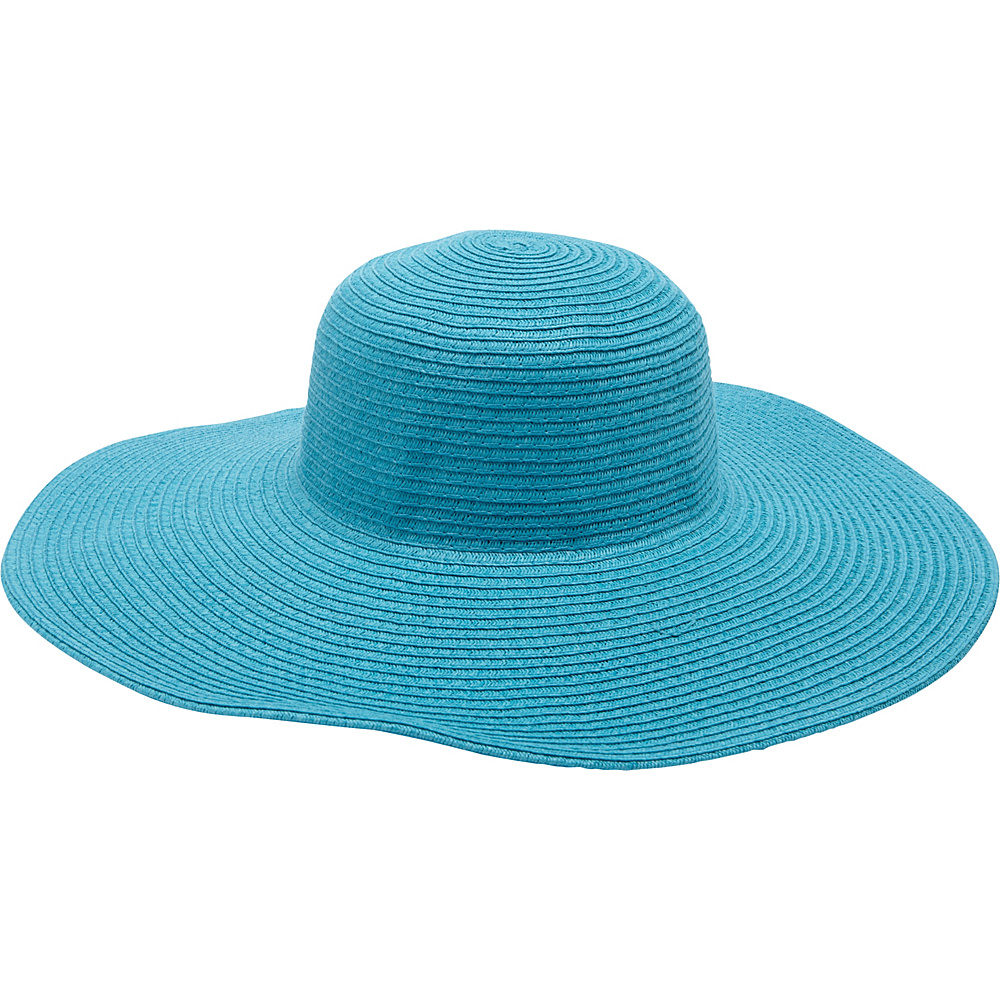 Magid Straw Floppy Sun Hat Turquoise Magid Hats Gloves Scarves