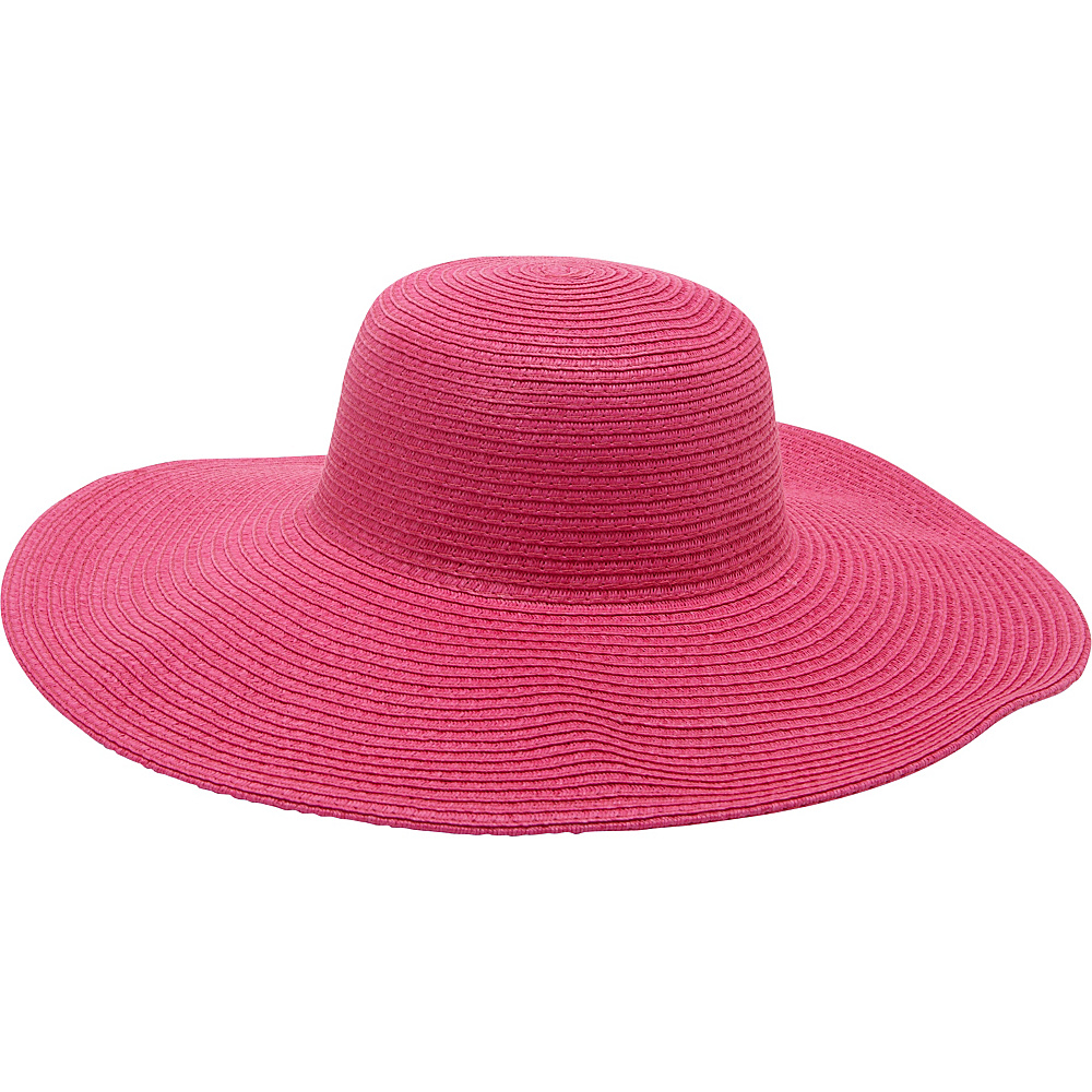 Magid Straw Floppy Sun Hat Fuschia Magid Hats Gloves Scarves