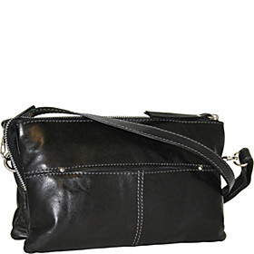 Top Zip Cross Body Organizer  Black