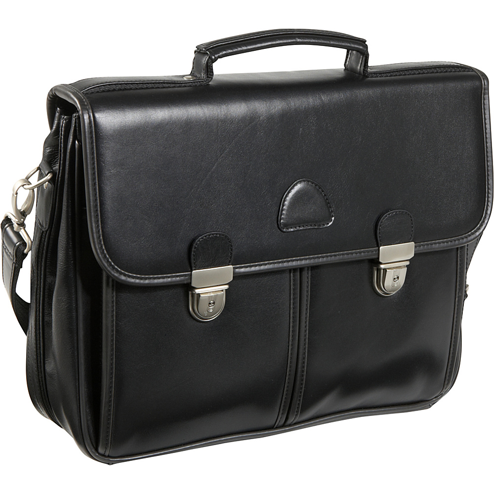 AmeriLeather World Class Leather Executive Brief - Work Bags & Briefcases, Non-Wheeled Business Cases
